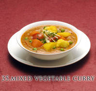 """<div style=""""font-size:x-small;"""">35,saag paneer (fresh cottage cheese and spinach curry) サーグ パナー(自家製チーズとホーレン草のカレー) 900円  36,matter paneer (fresh cottage cheese and green pea curry) マター パーニール(自家製チーズとグリーンピーカレー) 900円  37,mixed vegetable curry (5 kinds of vegetable curry) ミックス野菜カレー(5種類の野菜カレー) 900円  38,aloo gobi (potato cauli flower curry) アルー コビー(ポテトとカリフラワーのカレー) 900円  39,baingan masala (eggplant curry) バイガン マサラ(ナスカレー) 900円  40,dal curry (spice lentil curry) ダール カレー(スパイス豆のカレー) 900円  41,channa masala (chickpea curry) チャナ マサラ(ヒヨコ豆カレー) 900円</div>"""