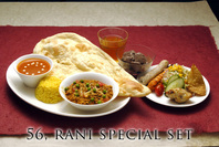 55,shahi set ~サヒセット~ (one curry of choice, tandoori prawn, seekh kabab, naan, rice, salad, dessert, drink,) カレーはメニューから1つ選んで下さい。 (タンドールプラウン・シークカバブ・ナン・ごはん・サラダ・デザート・ドリンク) 1,700円  56,vegetable set ~野菜セット~ (one curry of choice, samosa, pakora, naan, rice, salad, dessert, drink) カレーはメニューから1つ選んで下さい。 (サモサ・パコラ・ナン・ごはん・サラダ・デザート・ドリンク) 1,700円  57,raja special set ~ラジャ-スペシャルセット~ (one curry of choice, tandoori chicken, tandoori prawn, seekh kabab, saffron rice, soup, choice of naan, salad, dessert, drink,) カレーはメニューから1つ選んで下さい。 (タンドールチキン・タンドールプラウン・シークカバブ・サフランライス・スープ・ナンはメニューから選んで下さい・サラダ・デザート・ドリンク) 2,000円  58,rani special set ~ラニスペシャルセット~ (one curry of choice, seekh kabab, malai kabab, tandoori prawn, samosa,saffron rice, soup, choice of naan, salad, dessert, drink) カレーはメニューから1つ選んで下さい。 (シークカバブ・マライカバブ・タンドールプラウン・サモサ・サフランライス・スープ・ナンはメニューから選んで下さい・サラダ・デザート・ドリンク) 2,300円</div>