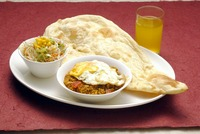 """<div style=""""font-size:x-small;"""">EGG KEEMA CURRY SET 玉子とひき肉のカレーセット 1,000円 KEEMA CURRY WITH FRIED EGG, NAAN OR RICE, SALAD, DRINK 玉子とひき肉のカレー・ナン又はライス・サラダ・ドリンク付</div>"""