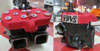 RZ350R 下地にガンコート・サテンブラックを塗装し結晶塗装致しました。 YPVS部分は後から削り出してます。