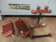 モトクロスレース車輌の部品です。   カッパーで施工しました。