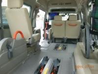 車いす2台可能。テレビ・DVDプレーヤーもあり、視聴可能です。医療用に使用可能な100V変換装置も設置しております。