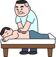 手技を用いて筋肉、または皮膚を刺激する。  筋肉の緊張を解くことで、血流を改善し、新陳代謝が良くなることで、自然治癒力も高まります。