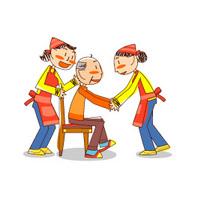 身体状況に応じた動作訓練で日常生活の維持向上を図ります。  レクリエーション等を通して仲間作りの輪を広げ、老後をより楽しく過ごせるような工夫に努めます。