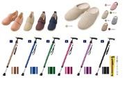 ●杖  3,500円~ ●シューズ(リハビリ・外出用) ¥5,000円~ ●室内用シューズ ¥2,400円~  シューズは、試し履きをしたり、サイズ選定することも可能です。 靴の幅を大きめにすることが出来きます。 (3E~11E) 片足だけの購入も出来るので、装具をつけている方や左右のサイズが違う方でも安心して購入できます。