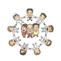 医師、作業療法士、看護師、精神保健福祉士、心理士、看護補助者がチームとなってプログラムの運営にあたっています。