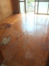 床研磨ウレタンニス塗装