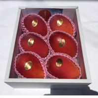 秀品(5~6玉)マンゴー     ¥9,450(税込・送料別) ※2017年度 ¥9,450→¥8,450(税込・送料別)  贈り物へ申分ない良品質マンゴー。 色付きが大変良く、見た目も抜群に綺麗なおいしマンゴーです。 5~6玉は見栄えも良く食べごたえもあります!  ☆大切な方への贈物に!きっと喜ばれます! もちろん ご自分用!ご家族用!是非いかがですか。。☆