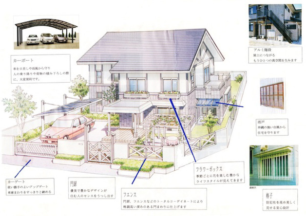 沖縄エクステリアは、沖縄県全域の住宅にかかわる工事を請け負っています。エクステリア,カーポート,門,フェンス,アルミ,雨戸,格子,やその他お見積もりやご相談などお気軽にご連絡下さい。