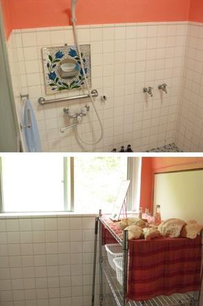 ピンクを基調にした広いシャワールームです。  24時間使用可!  シャワーヘッドは2つあります(^^♪   【備え付け】 シャンプー・コンディショナー・ ボディソープ・共有ドライヤー・綿棒...