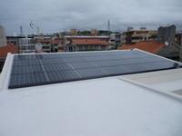 190w×28枚 5.32kw 那覇市首里太陽光発電工事