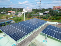 190w×22枚 4.18kw 名護市太陽光発電工事