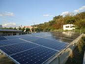 250W×84枚 21kw 南城市玉城太陽光発電工事
