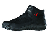 """足元を完全武装!マイルドミリタリーデザイン! 優れたフィット感・クッション性・屈曲性・耐久性を もったセーフティーシューズです。 3㎝防水・耐油・耐酸  <span style=""""color:red;"""">※セーフティフットウェアは安全靴(JIS規格)   ではありません。 ※先心は入ってますが作業用靴です。</span>  カラー ブラックのみ  <span style=""""color:blue;"""">←画像をクリックで拡大</span>"""