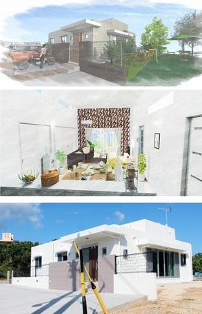 ④.K氏住宅兼マンション新築工事(沖縄市)