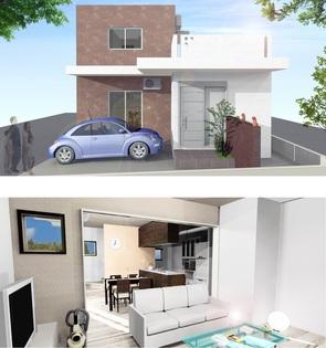 外観パース 沖縄市にて住宅兼マンションの建設。 広々2LDKと1LDKの複合プラン。 5階建てでエレベーターも設置。1階部分はピロティー形式の駐車場なので、入居者の利便性も抜群。 29年10月完成予定。見学会も予定。一見の価値ありです(^.^)