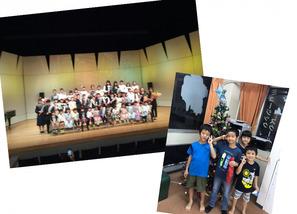 「白鳥の湖」をピアノ連弾と映像での紙芝居で行いました。 ナレーションは、4月よりスタートしたEnglish Schoolの生徒さんも加わった、日本語と英語バイリンガルで表現しました。